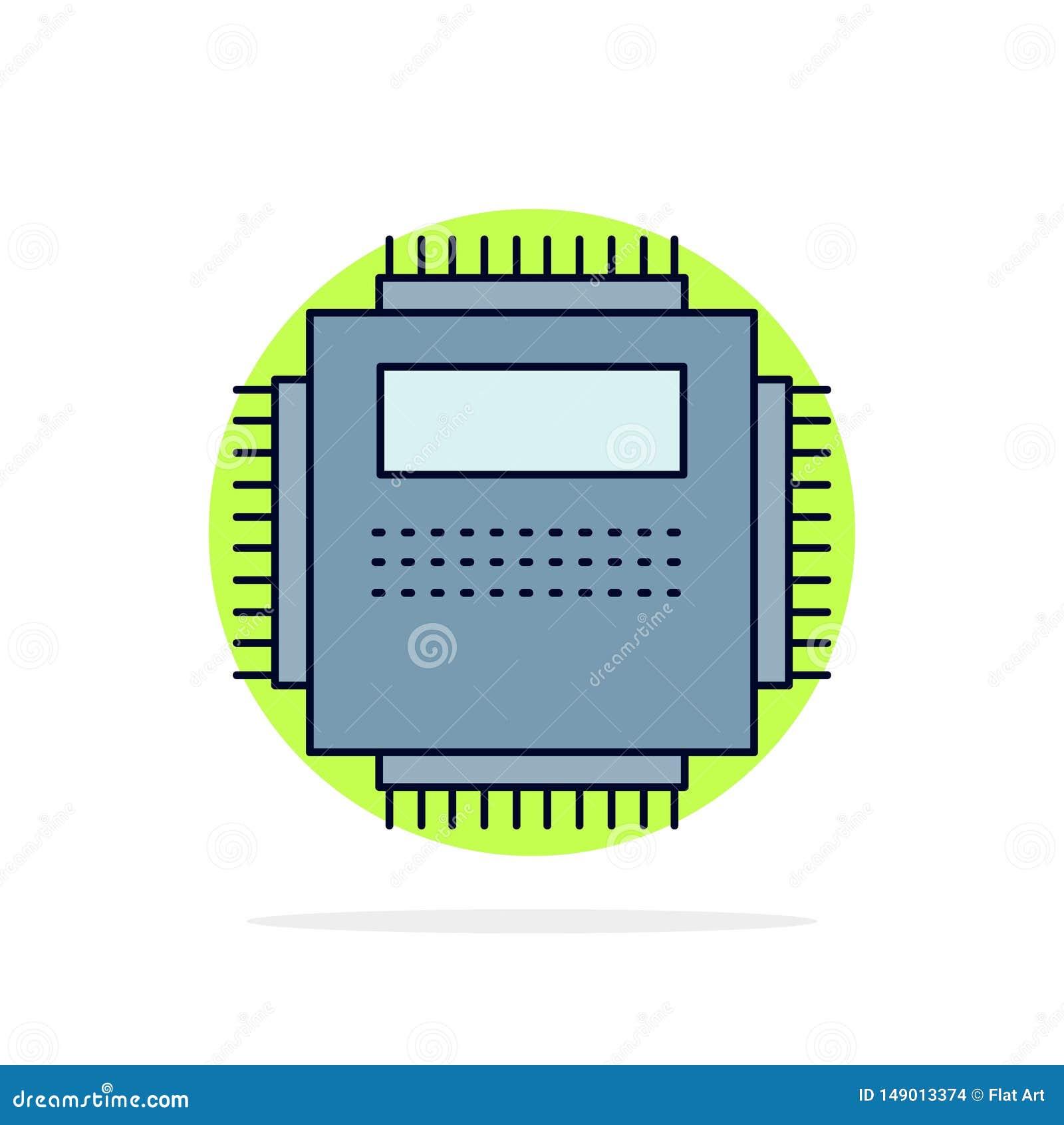 Procesador, hardware, ordenador, PC, vector plano del icono del color de la tecnología