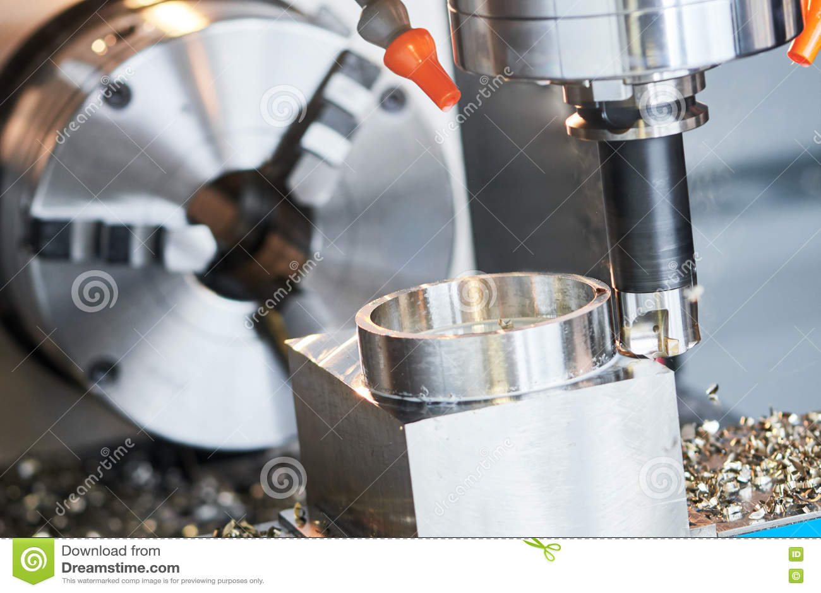 Proceso que muele CNC de la precisión que trabaja a máquina por el molino vertical