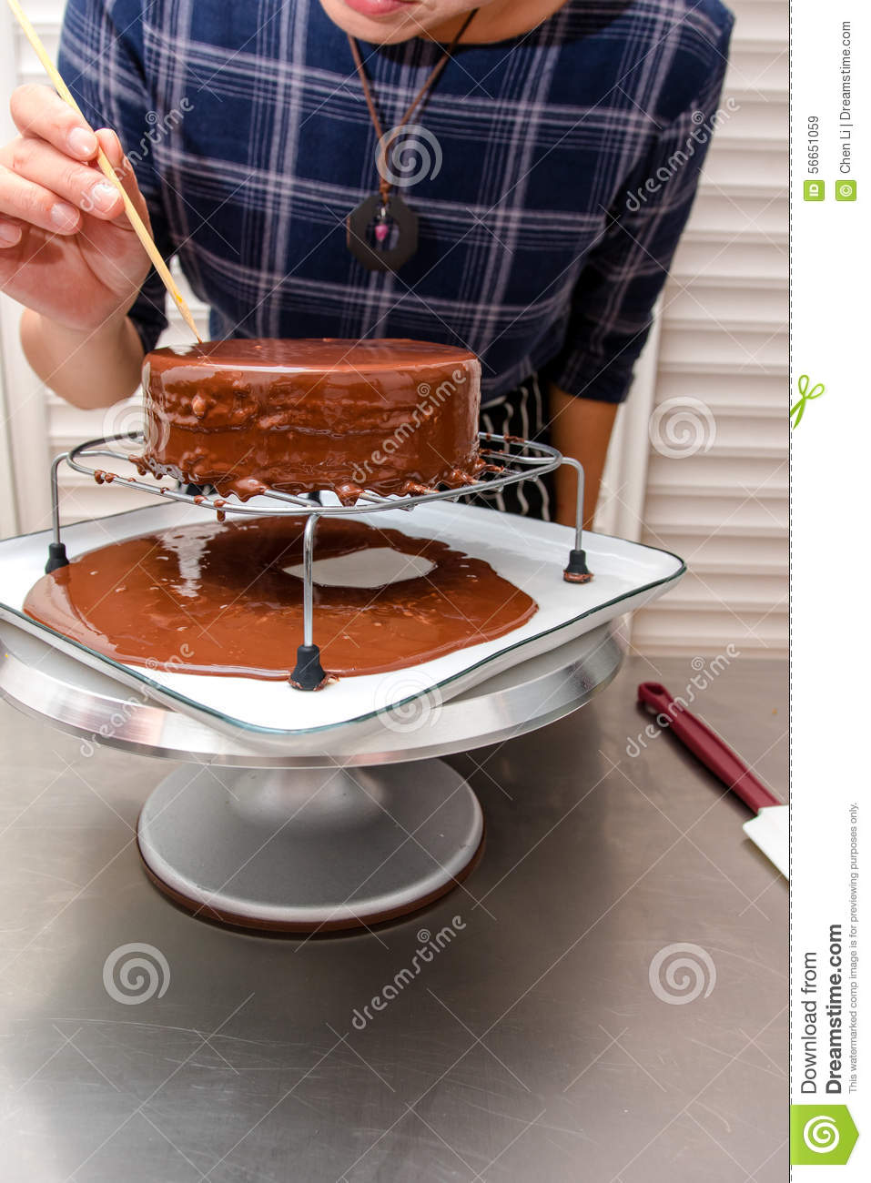 process of making cake