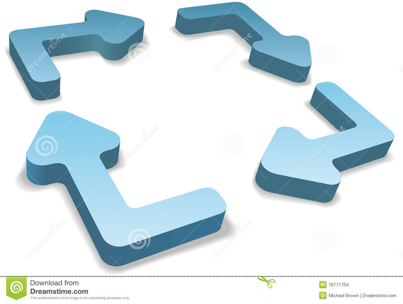 Process cycling arrow by arrow royalty free stock images image - Process Management 4 3d Recycle Cycle Arrows Stock Images