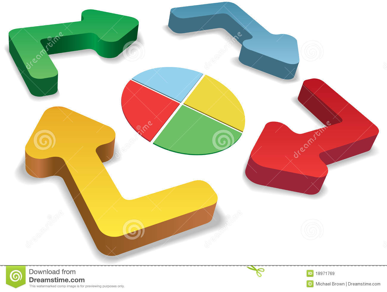 Process cycling arrow by arrow royalty free stock images image - Process Management Color Cycle Arrows