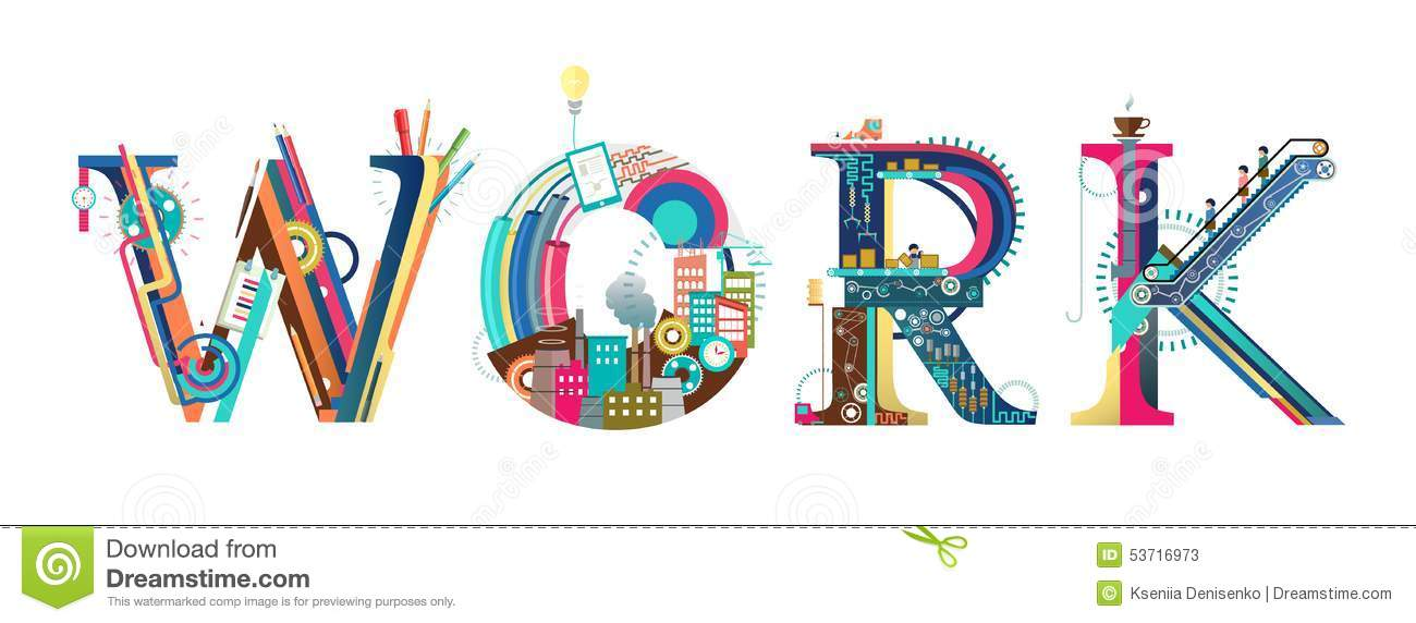 Process Of Work Stock Vector Image 53716973