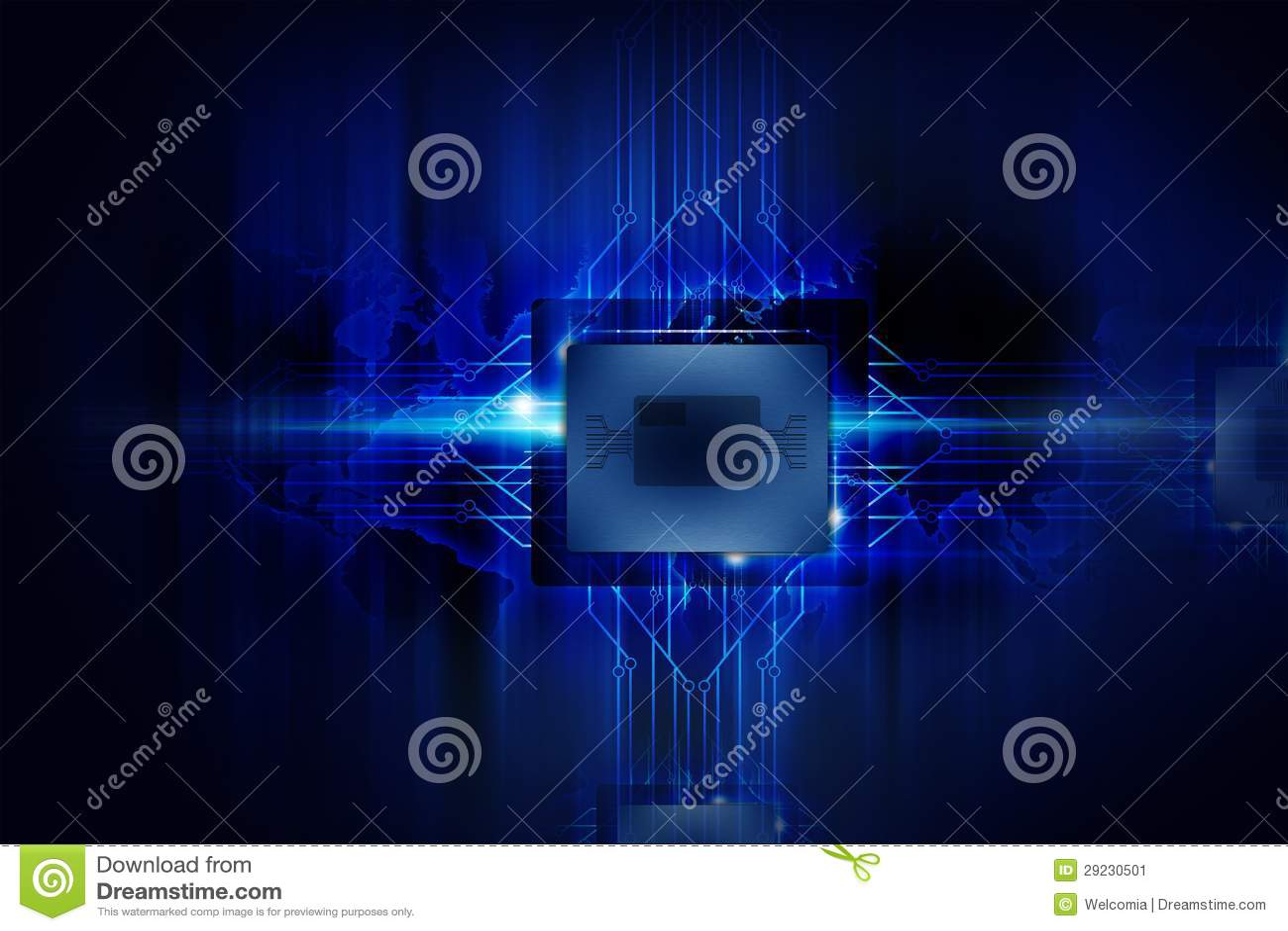 Download Processador poderoso ilustração stock. Ilustração de roteamento - 29230501
