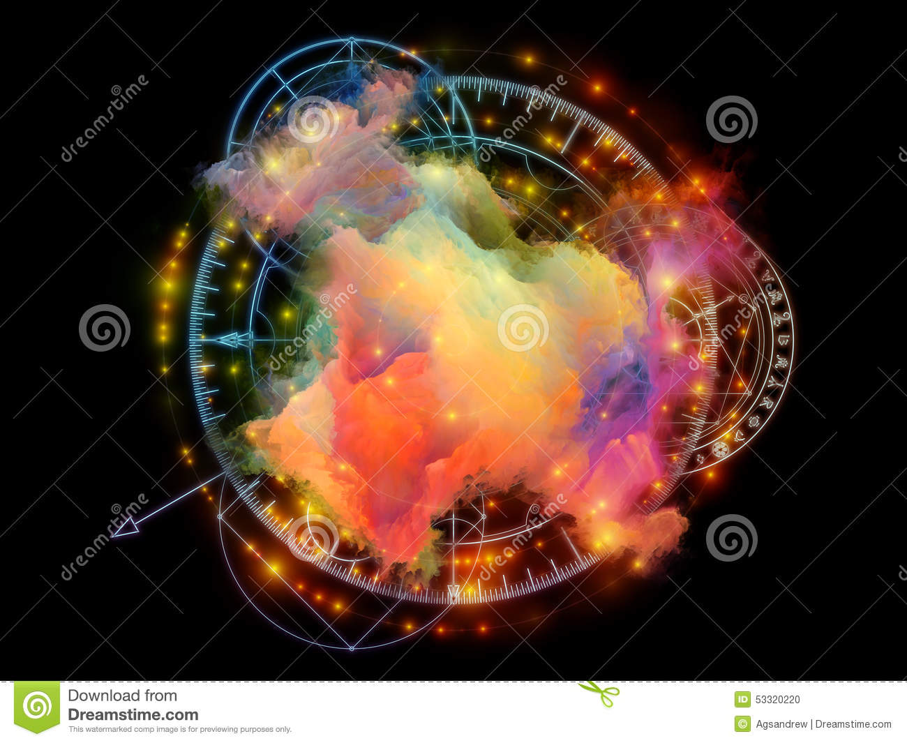 Processing Abstract Visualization Stock Illustration