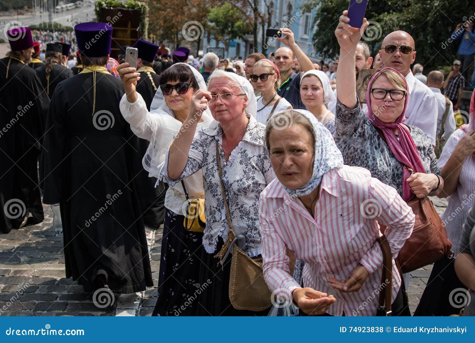 Procession för fred i Kyiv