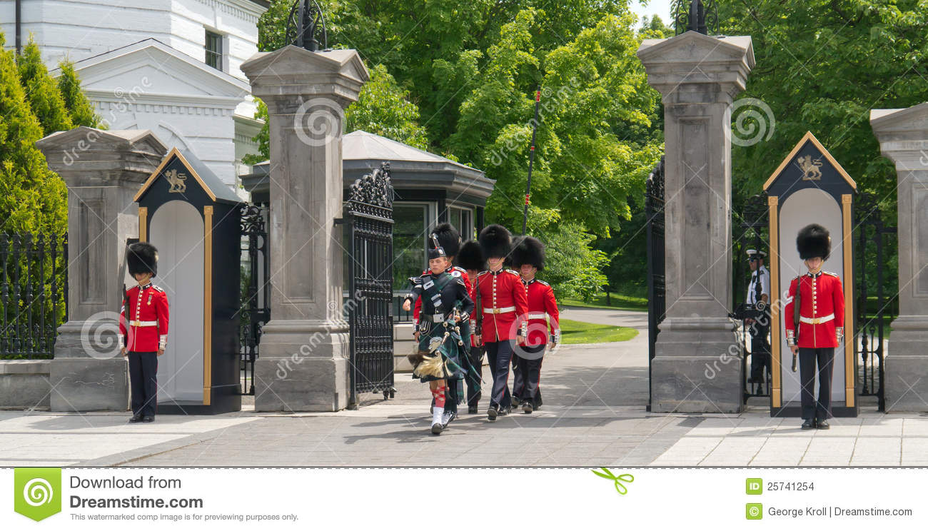 Procession at Rideau Hall Changing of the Guards