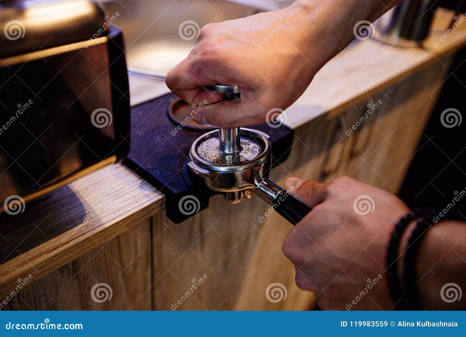 Processo della preparazione di caffè