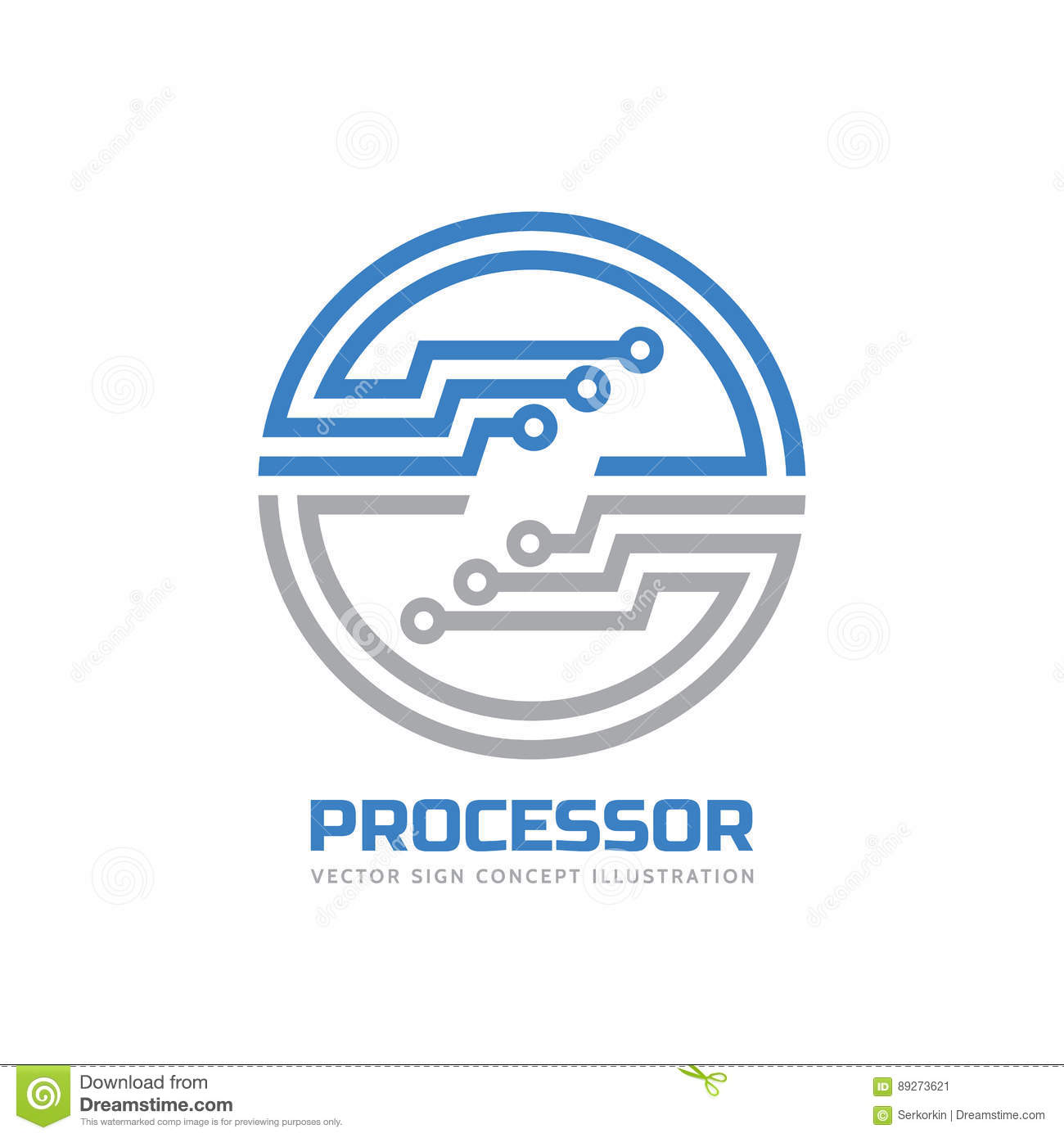 Processor CPU - Vector Logo Template For Corporate ...