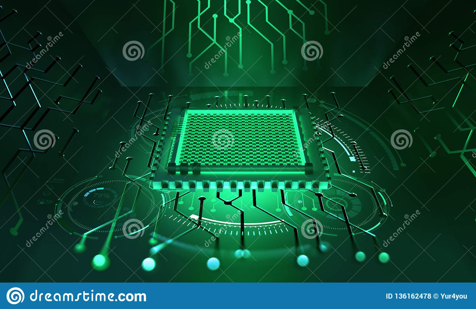 Processor of the future. Concept of global cyberspace. Innovations in computer nanotechnology