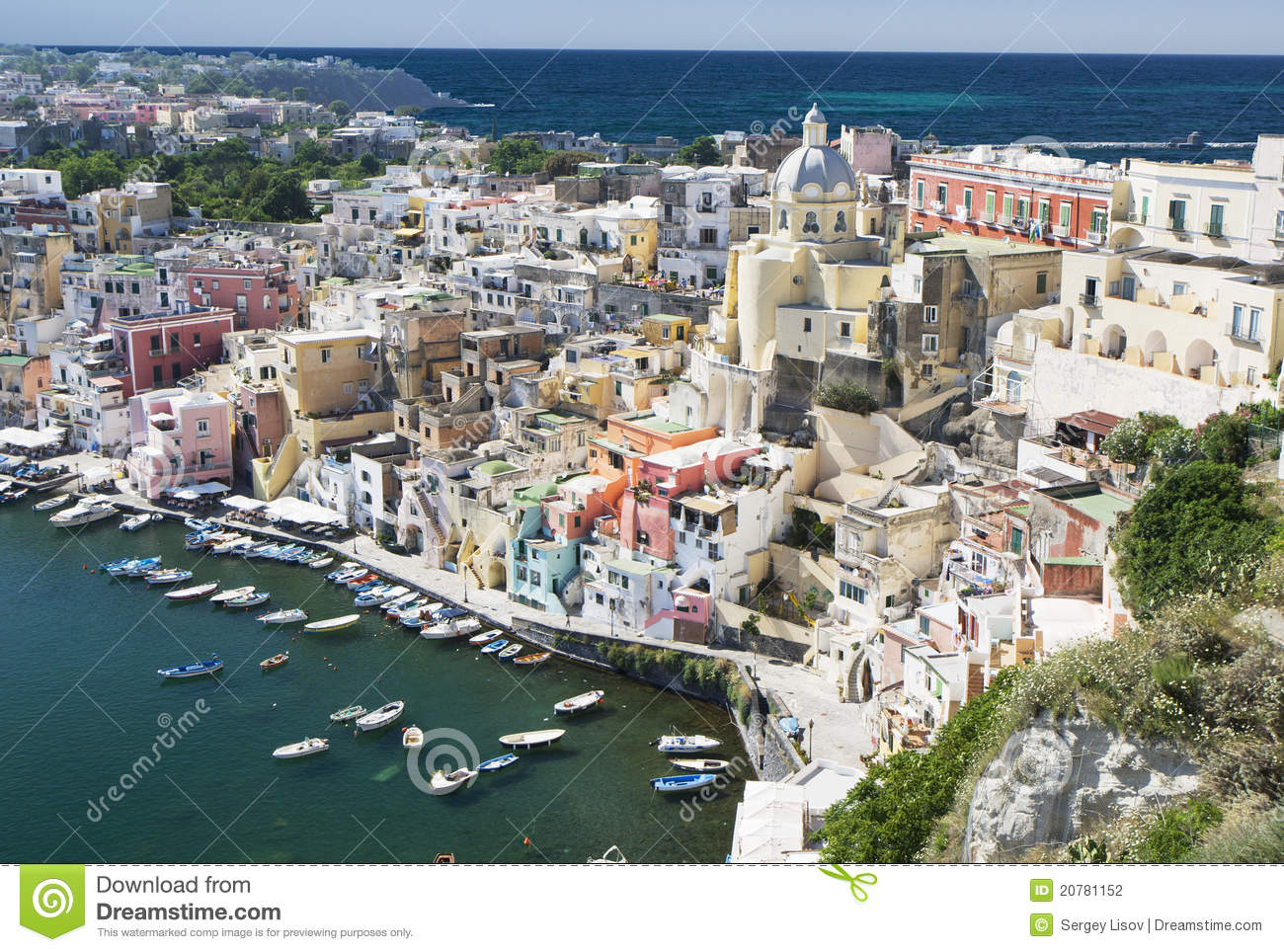 Procida, Naples, Italy stock photo. Image of house, landscape - 20781152