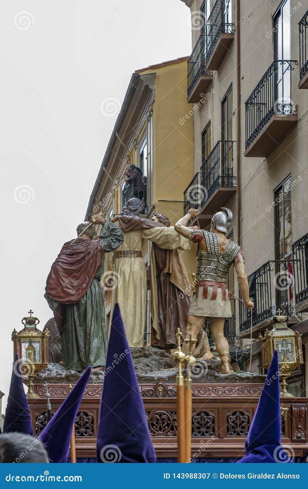 Procissão santamente de quinta-feira em Zamora, Espanha