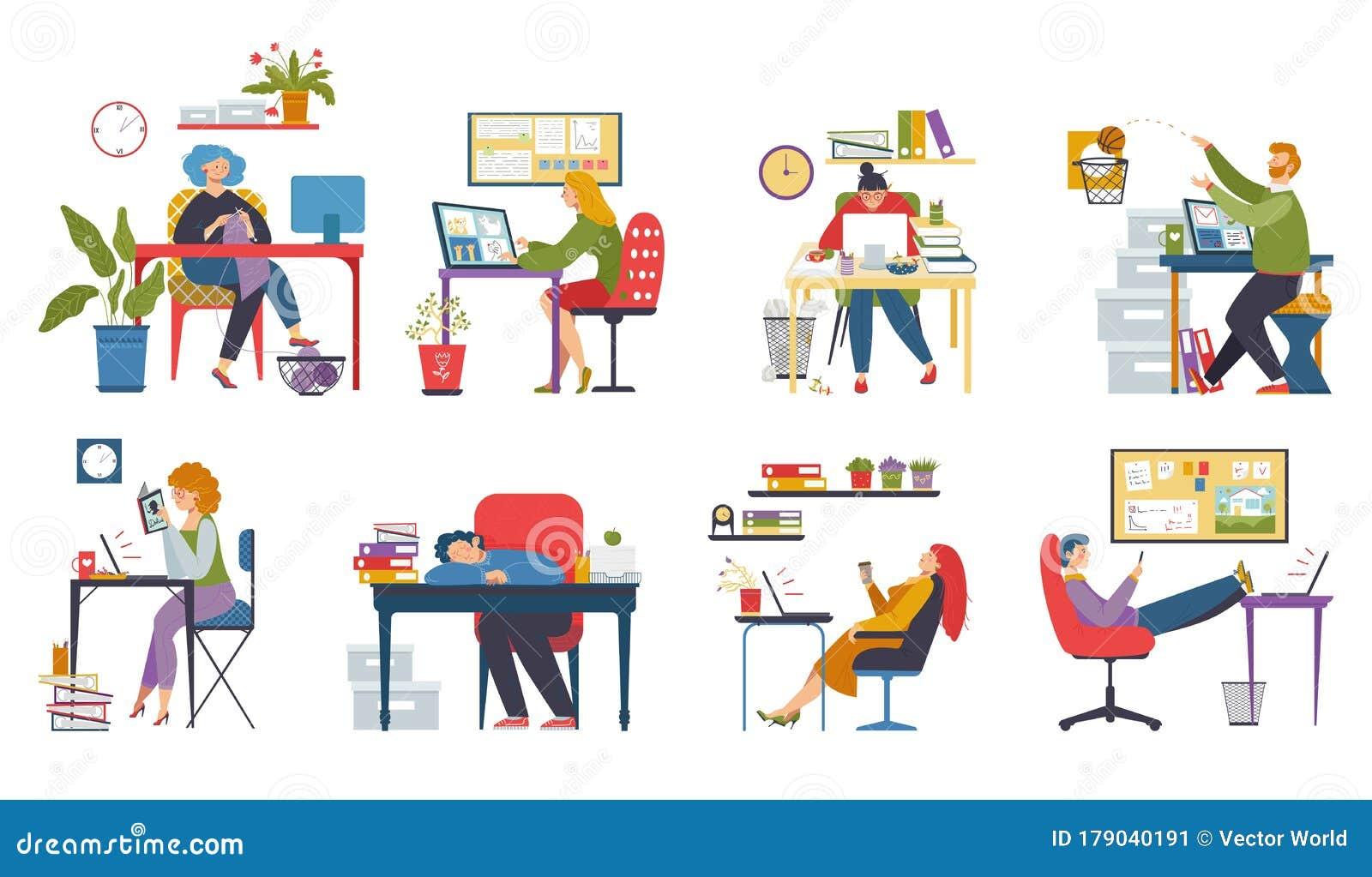 Set Of Funny Cartoon Manager   CartoonDealer.com #21745127