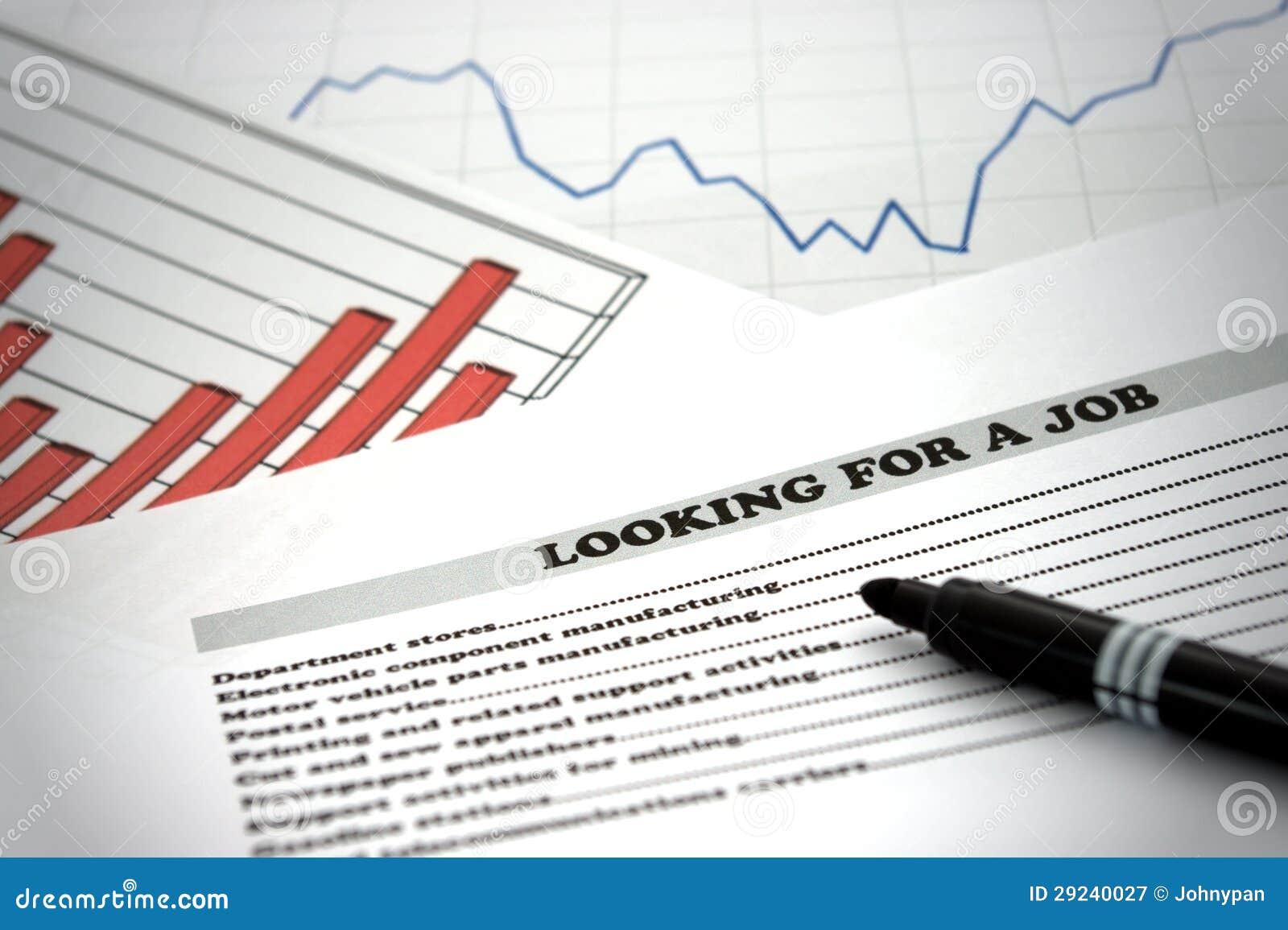 Download Procurando um trabalho imagem de stock. Imagem de economia - 29240027