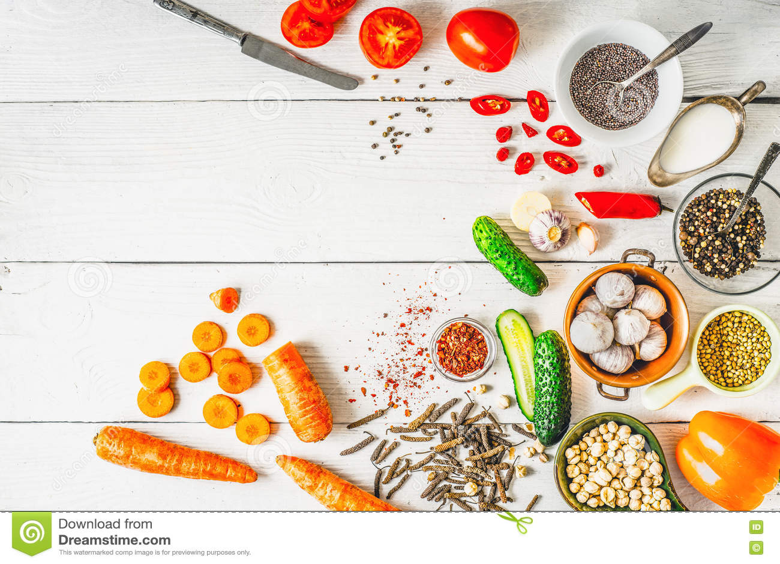 Prodotti Per Cucina Caucasica Ed Asiatica Di Medio Oriente, Sulla ...