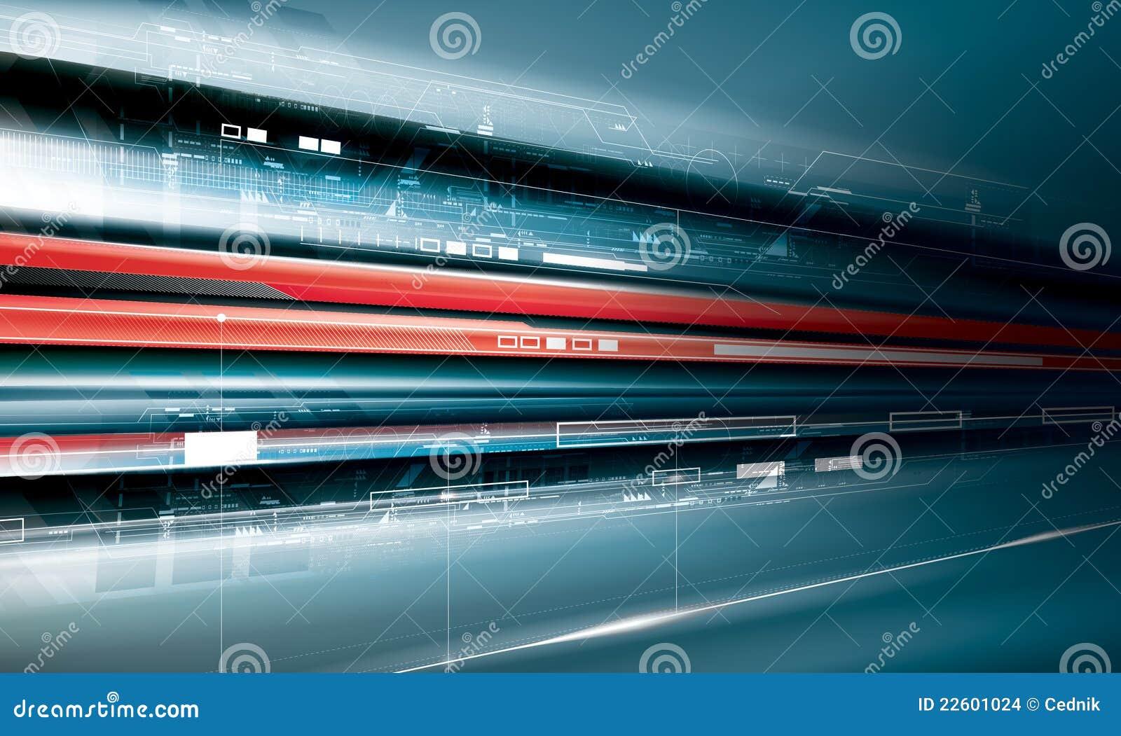 Producción futurista de la tecnología