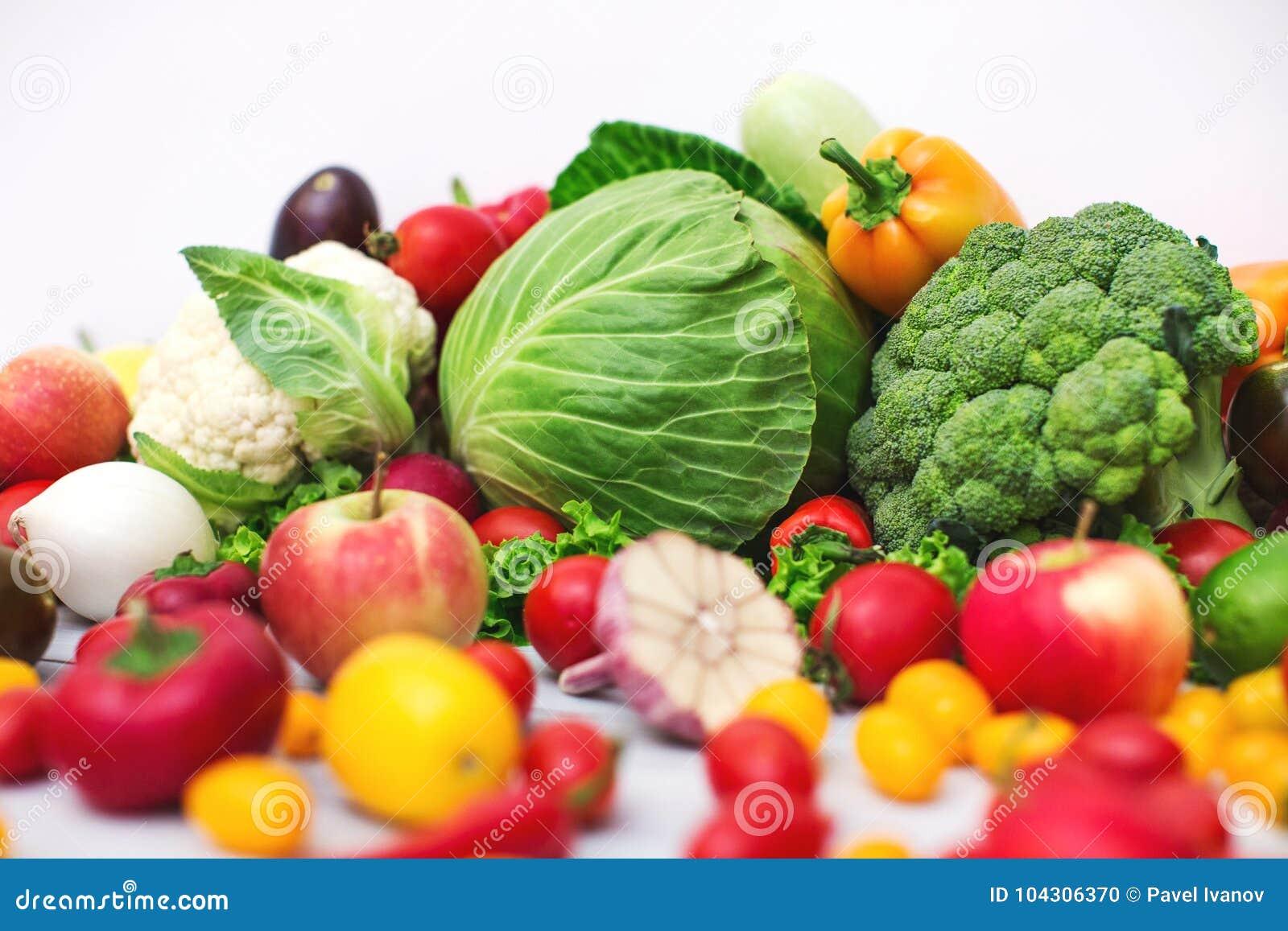 Producción vegetal orgánica cruda fresca