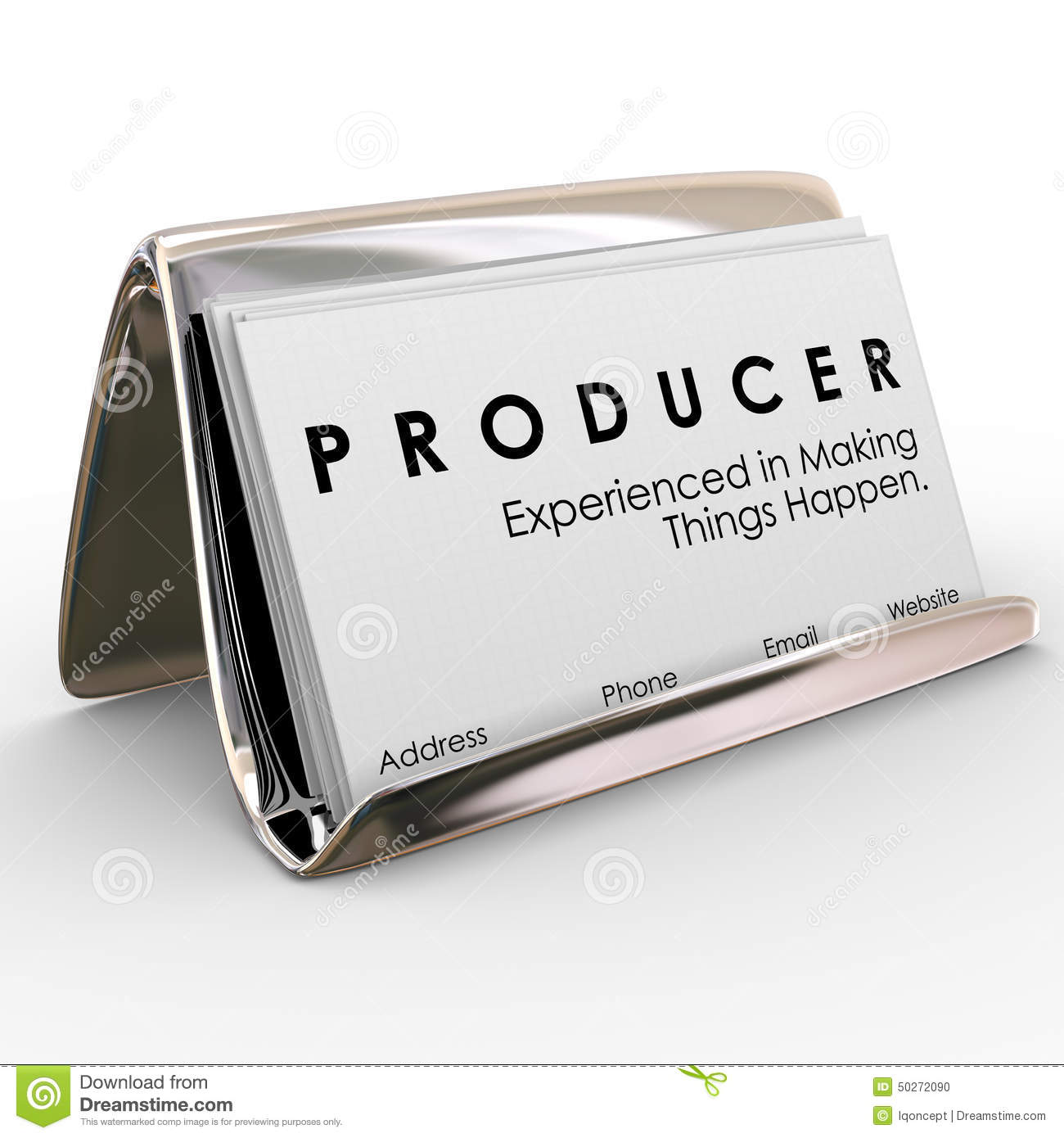 Producer Business Cards Experienced Making Things Happen Stock ...