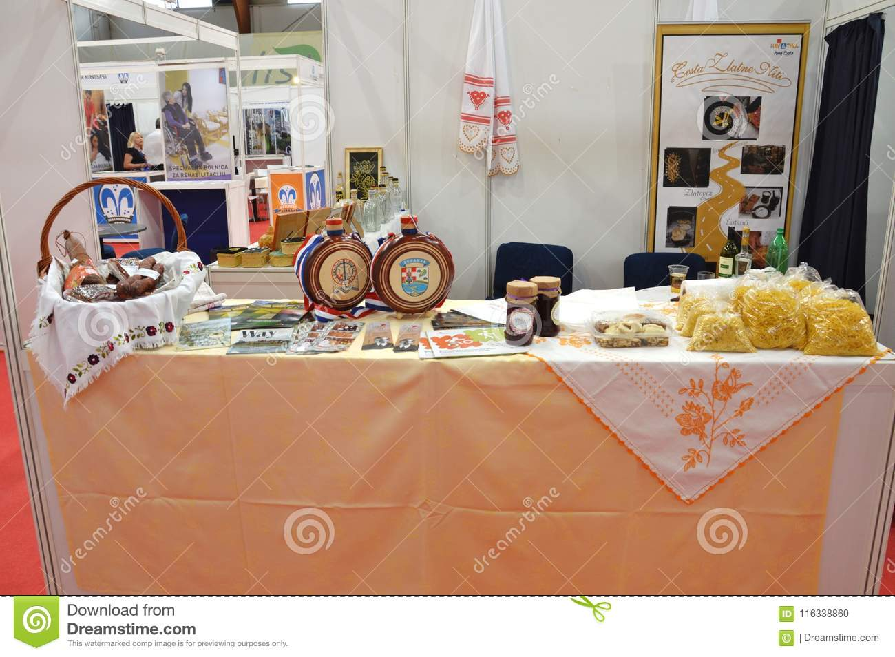 Product And Handiwork From Exhibitors Editorial Image - Image of