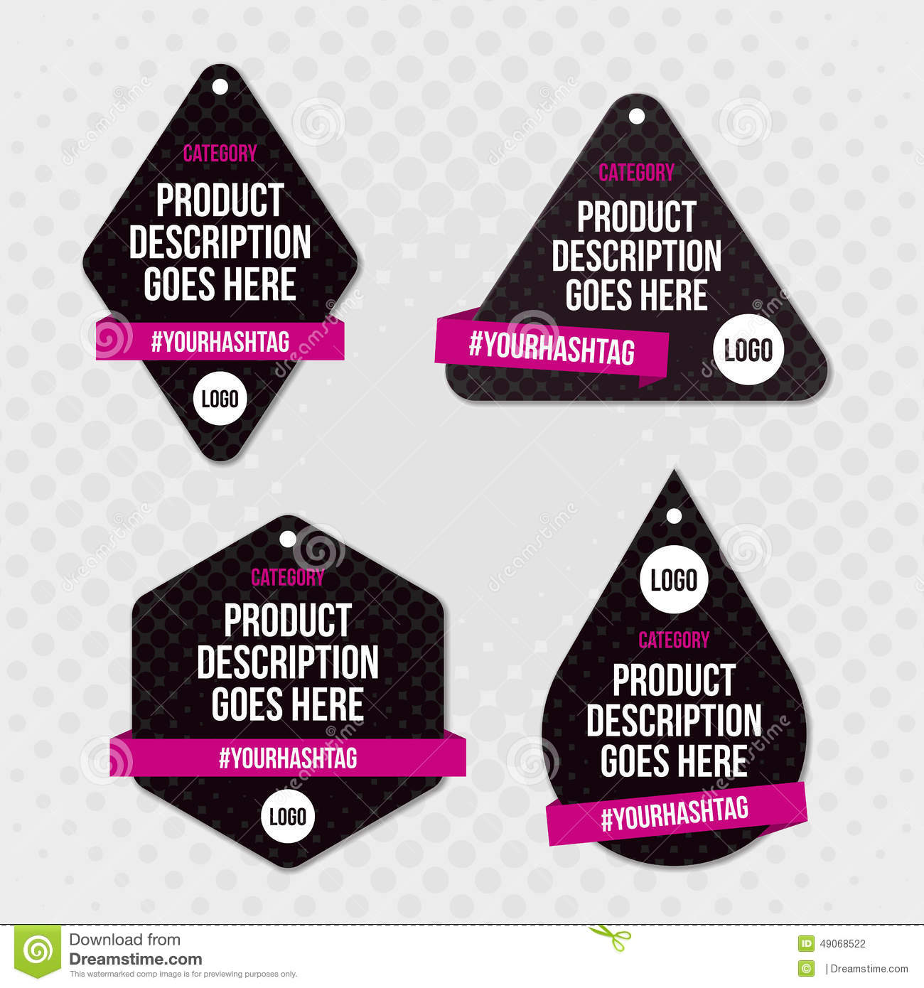 Product label swing tag design