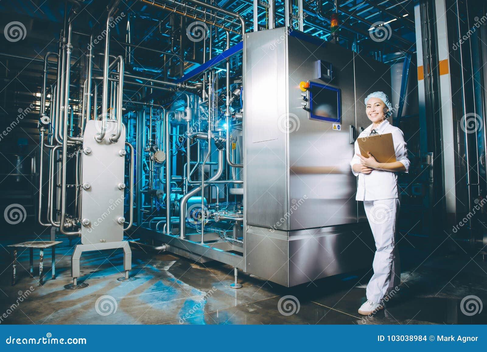 Production d usine de lait