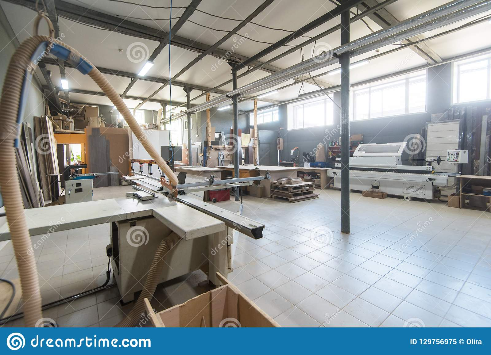 Production department at a furniture factory