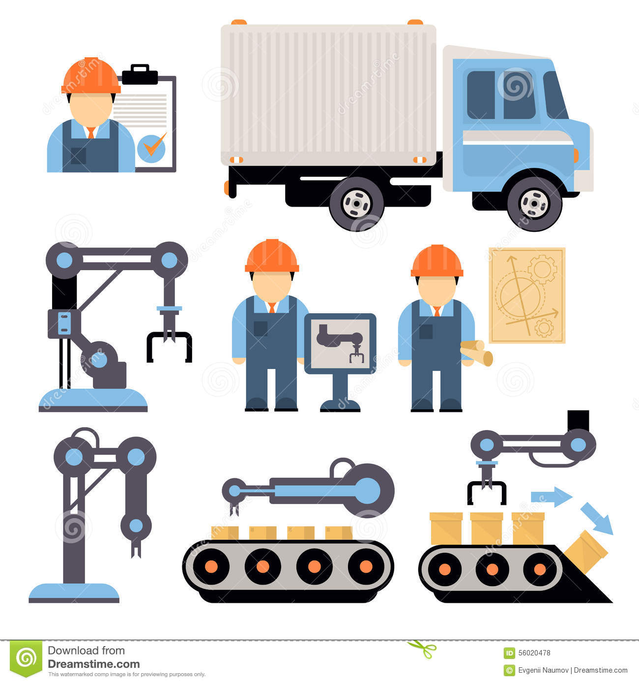 Production Process Vector Illustration Stock Vector ...