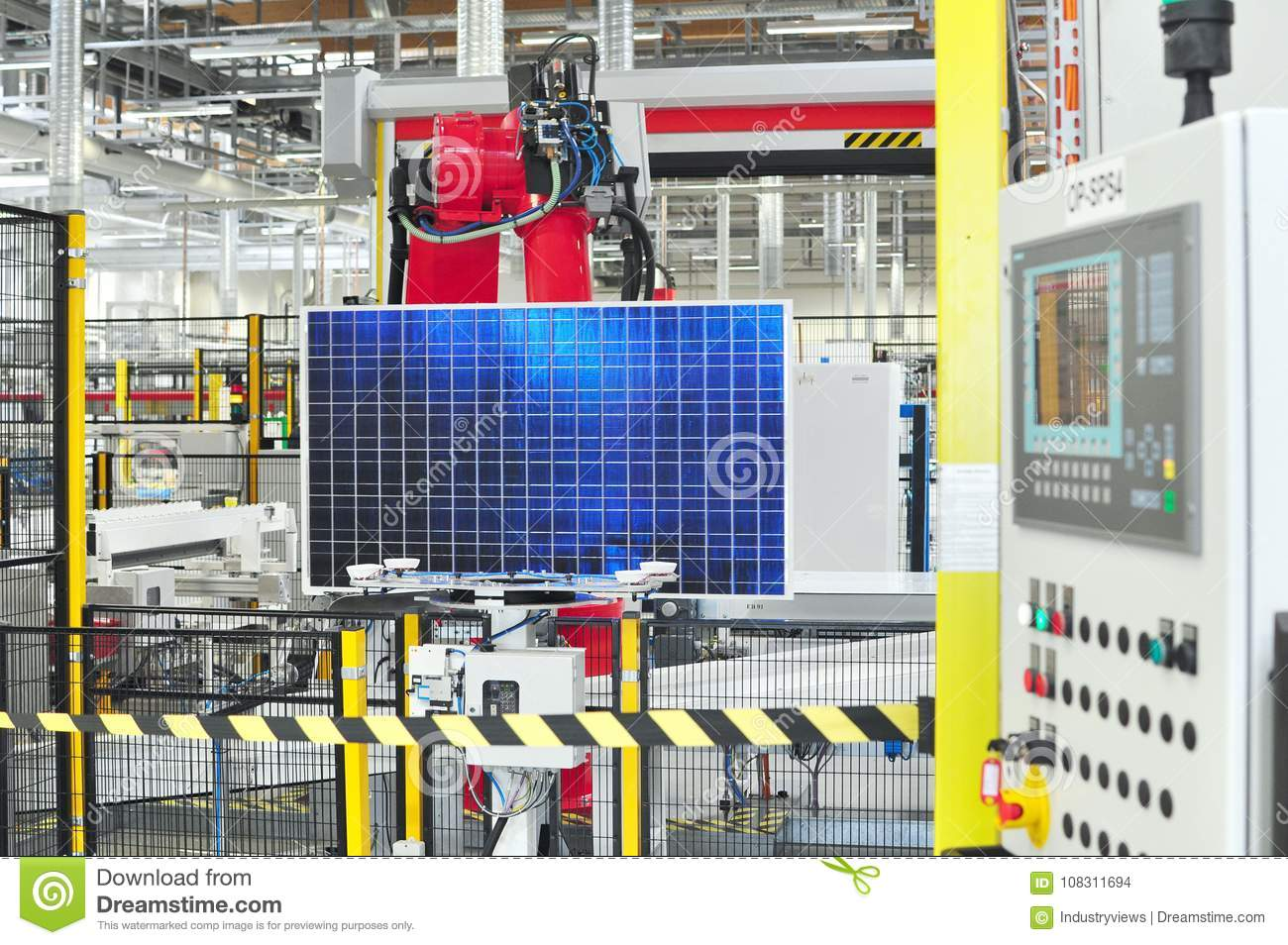 Production of solar cells assembled in a high tech factory