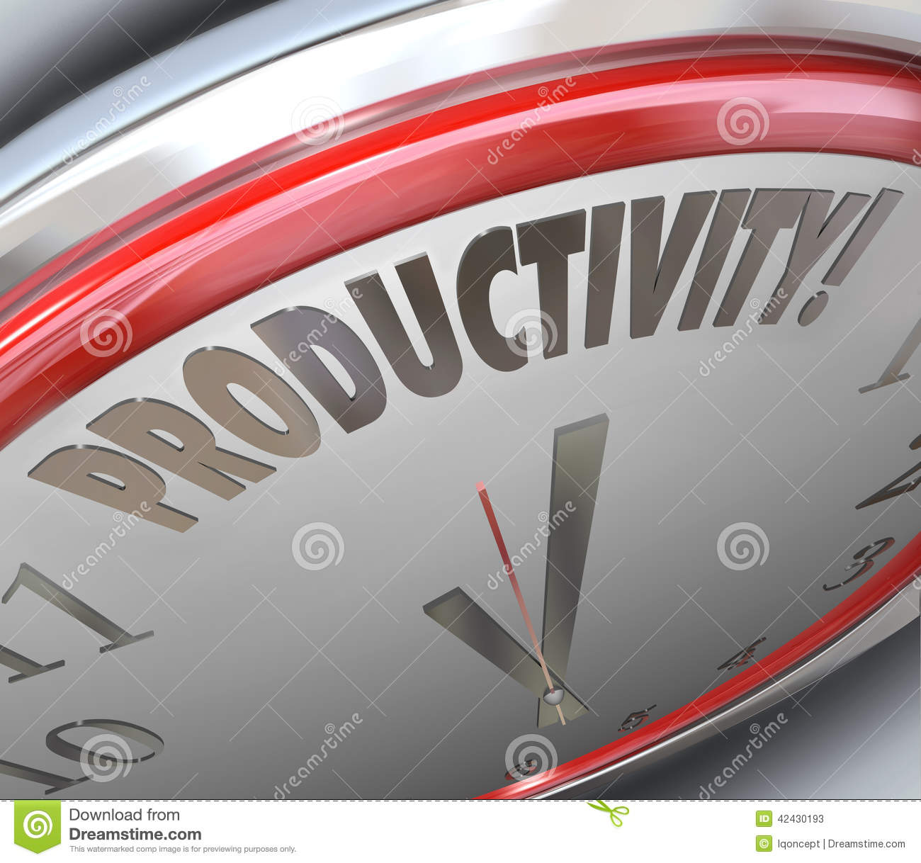 Productivity clock increase efficiency output more done for More com