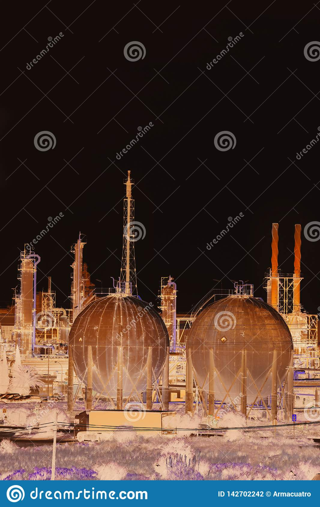 Producto petroquímico e industrias Aspecto de la refinería