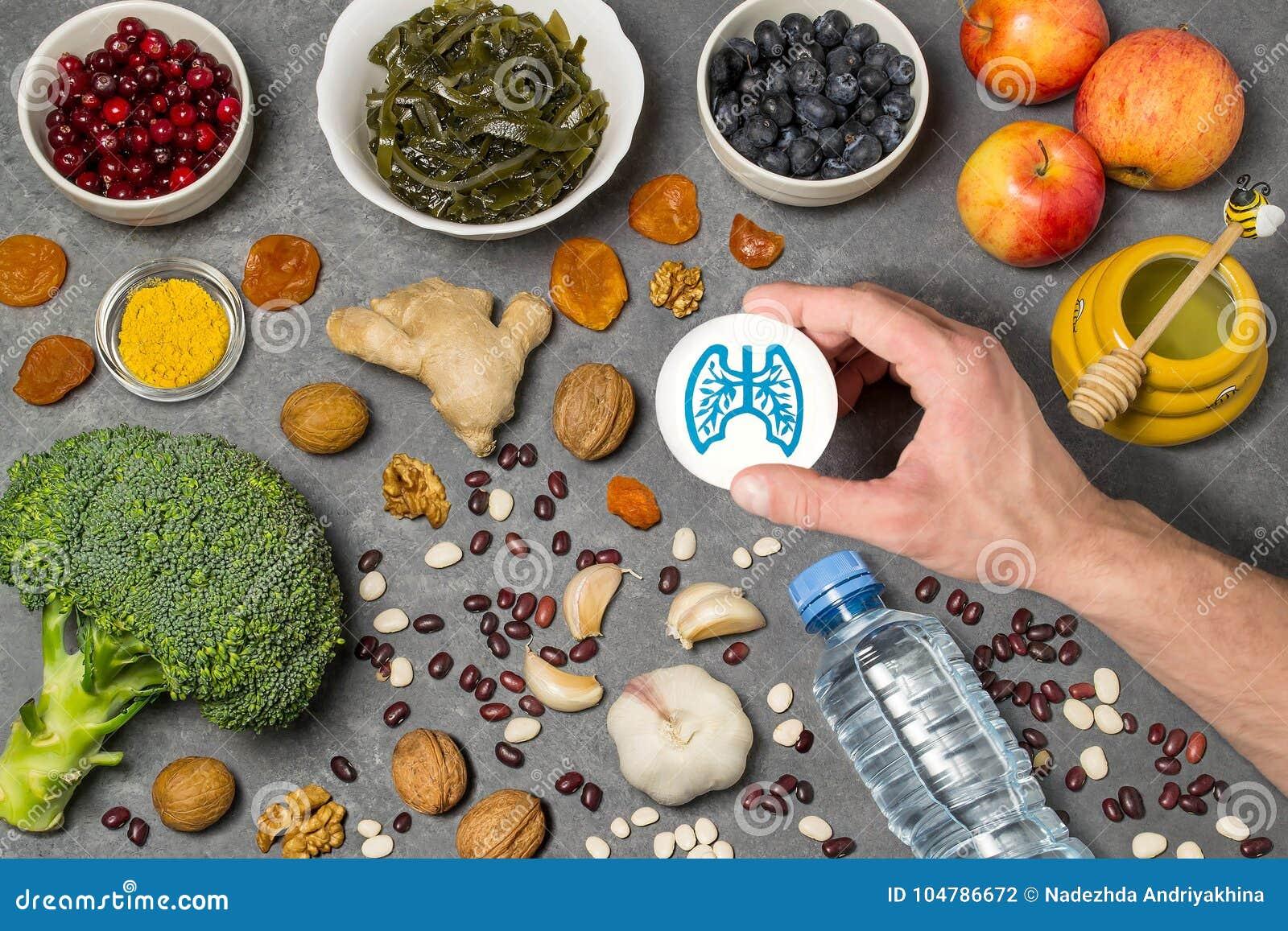 Productos alimenticios útiles para los pulmones