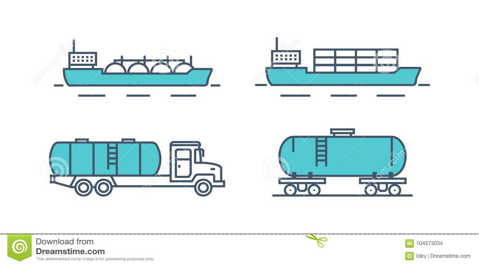 Productos Petrolíferos Del Transporte Carga De Mar, Tren ...