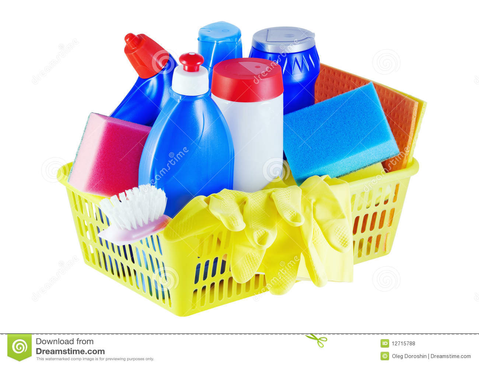 Productos qu micos de hogar fotos de archivo libres de for Articulos para limpieza del hogar