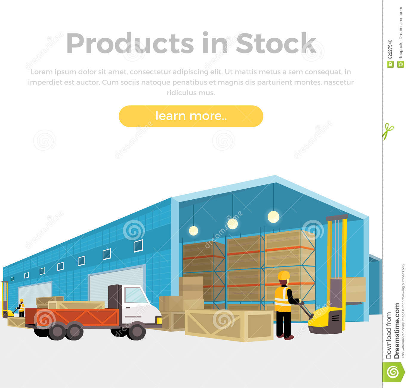 Products in stock stock vector illustration of learn - Interior exterior building supply ...