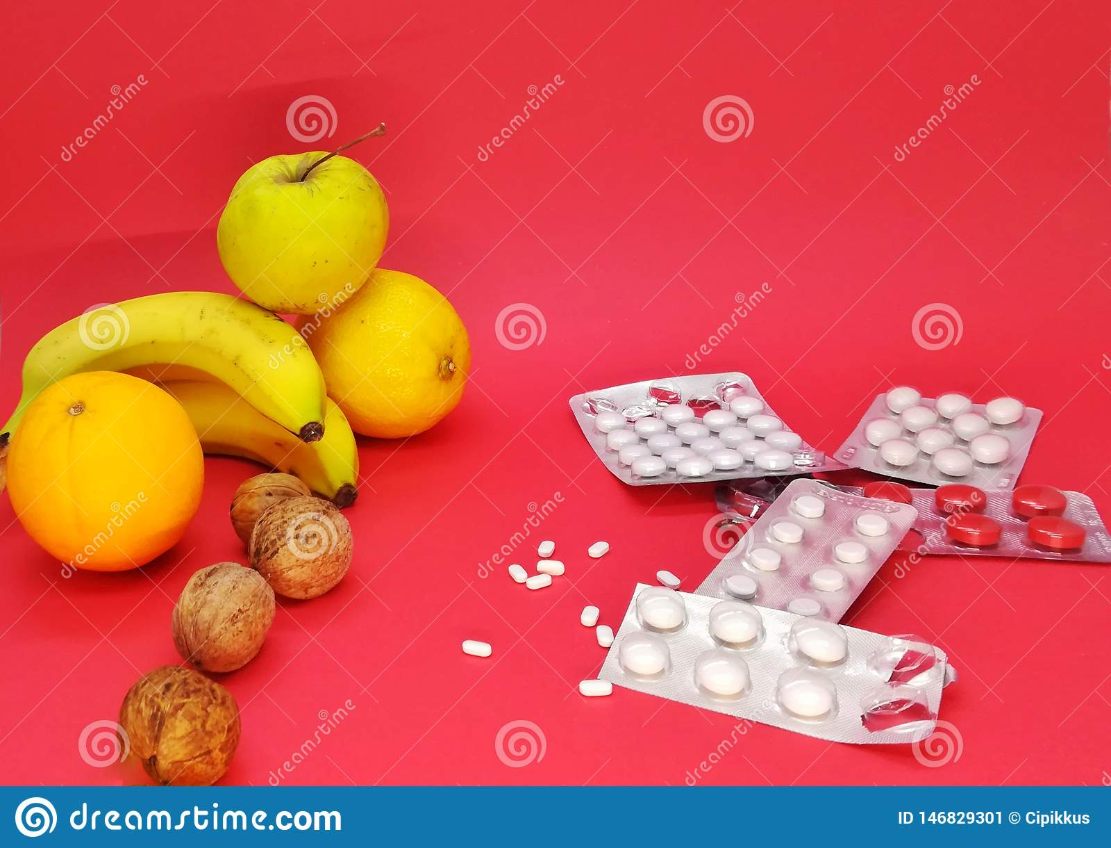Produit chimique, vie et morts, fruit et pilules de nature
