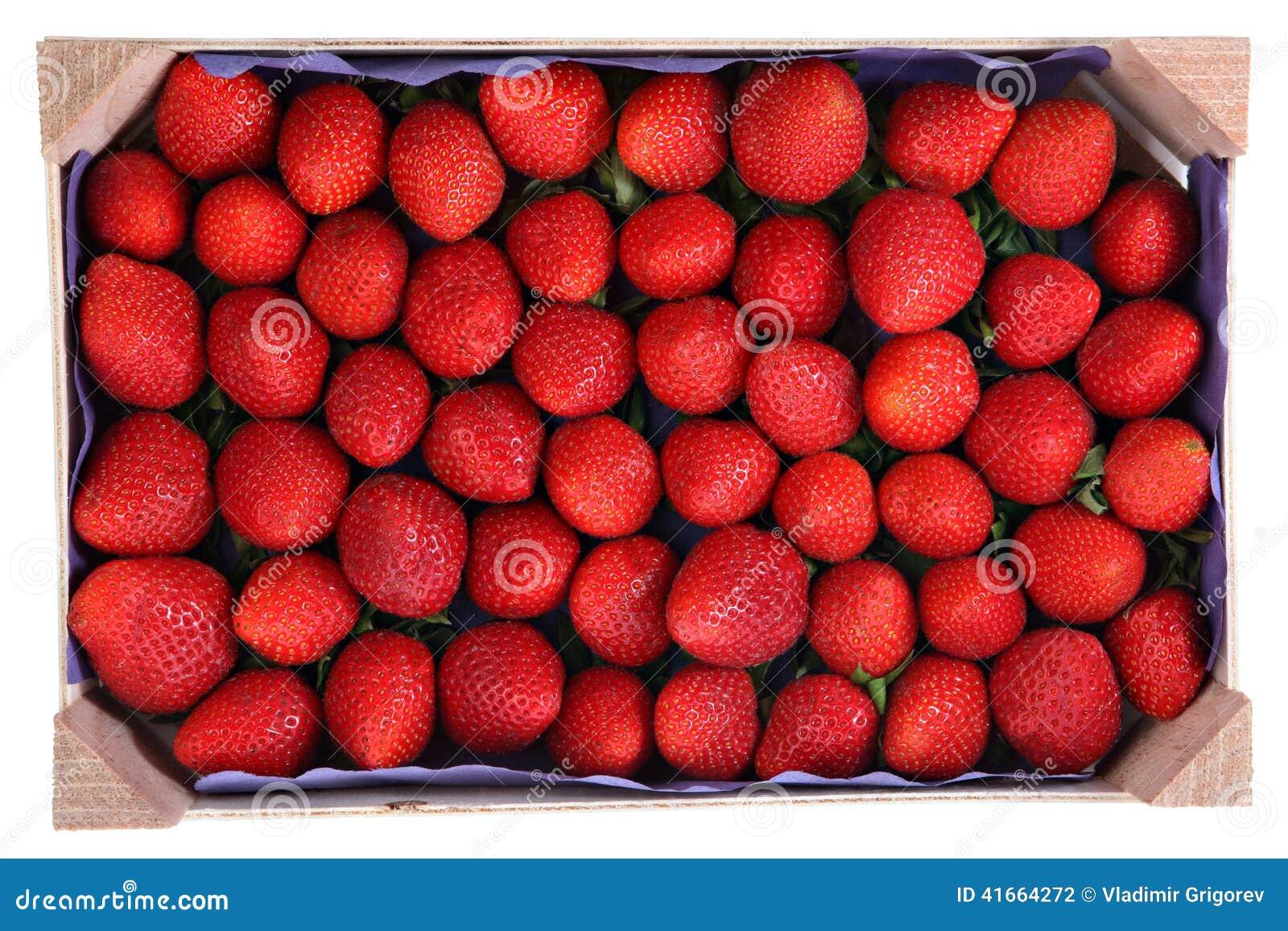 Produit p rissable plateau en bois avec des fraises for Portent fruit