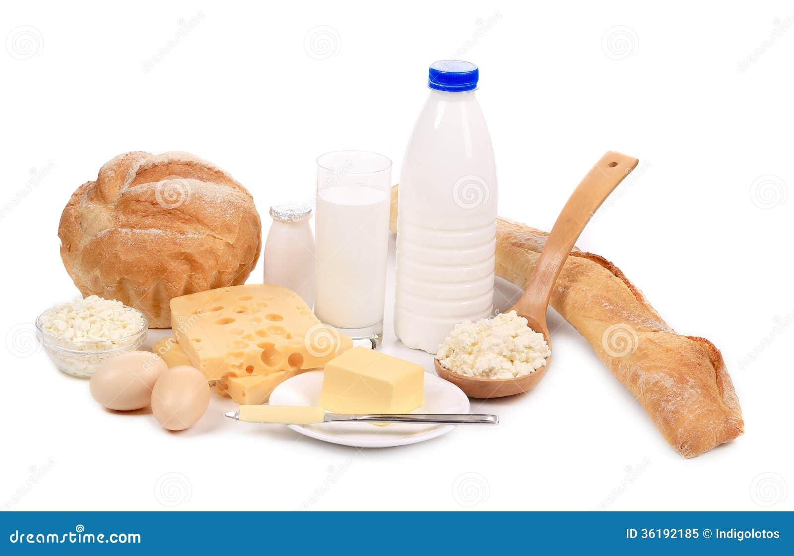 Produits sains de petit déjeuner.