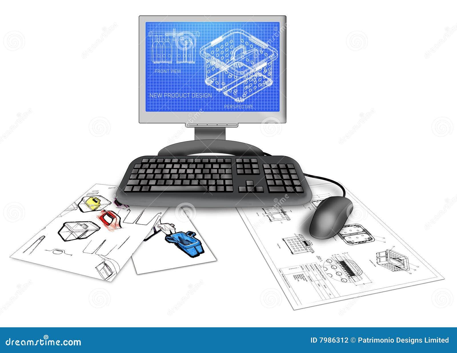 Produkt CAD-Auslegung auf Computer