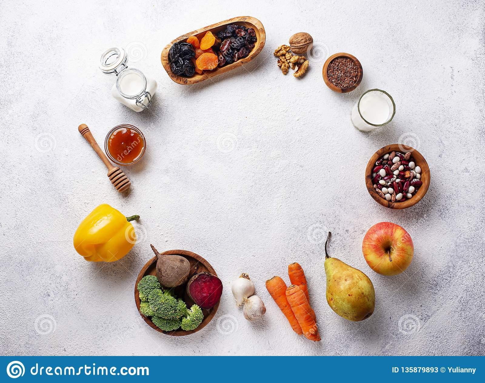 Produkter för sund tarm Mat för tarmkanal