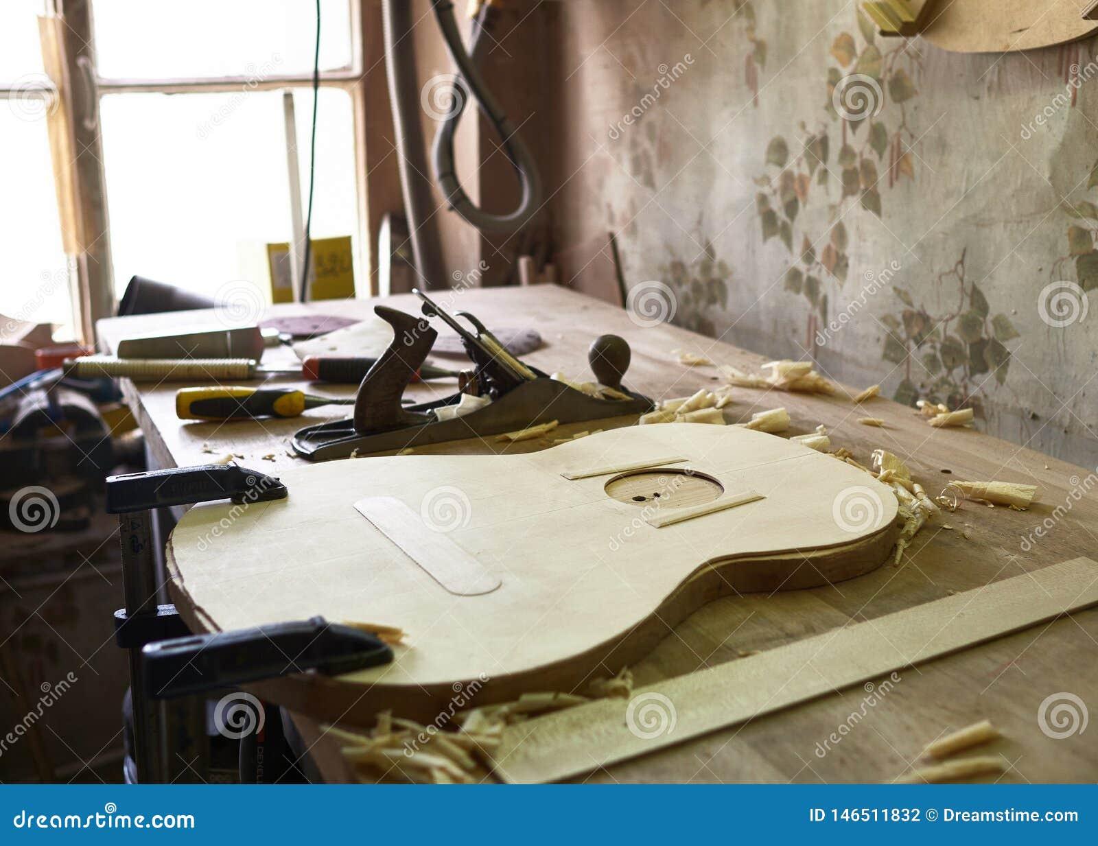 Produktion av den klassiska gitarren