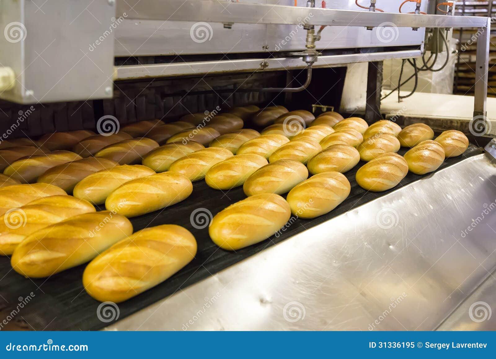 Produktion des Brotes in der Fabrik