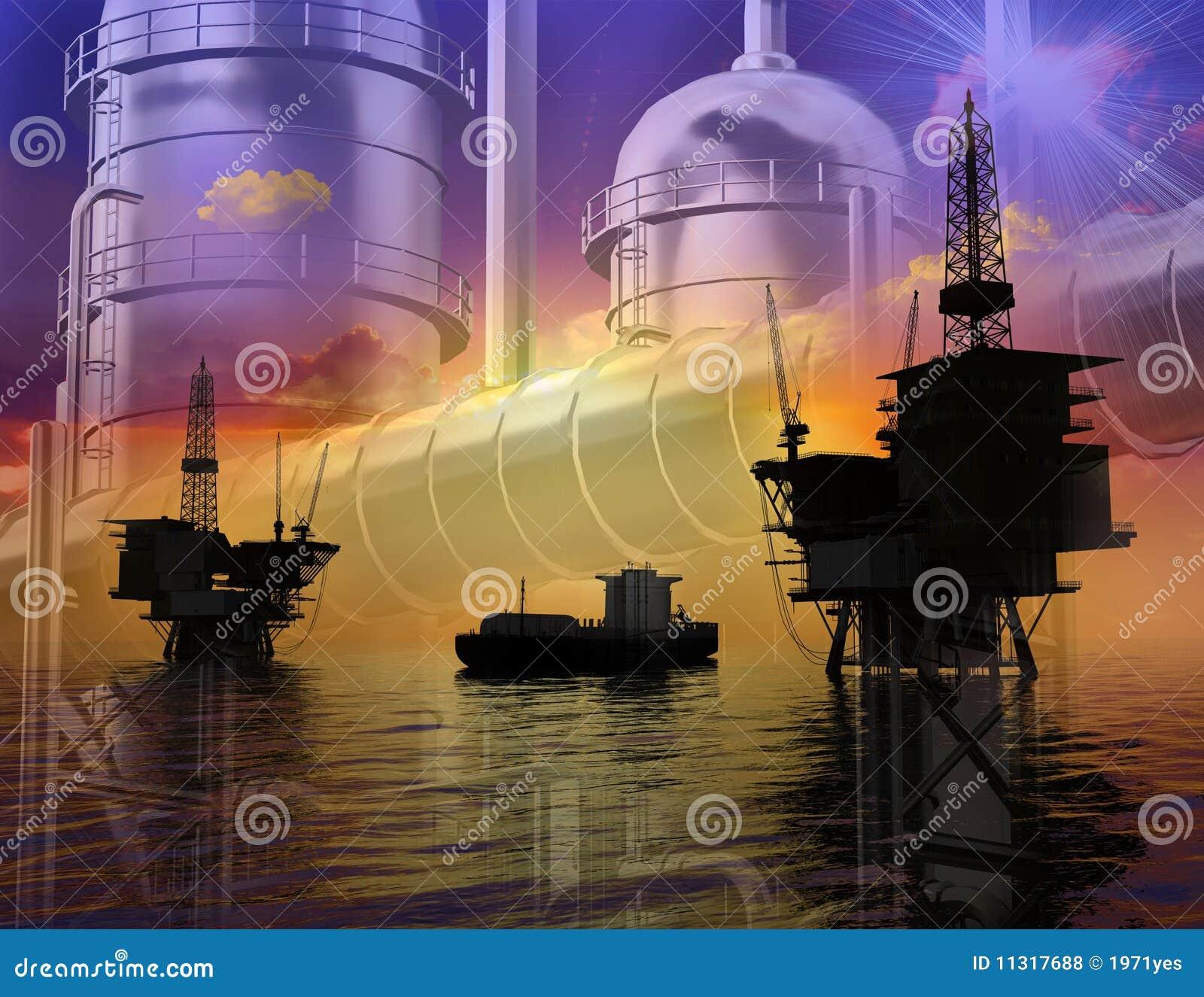 Produktion des Erdöls