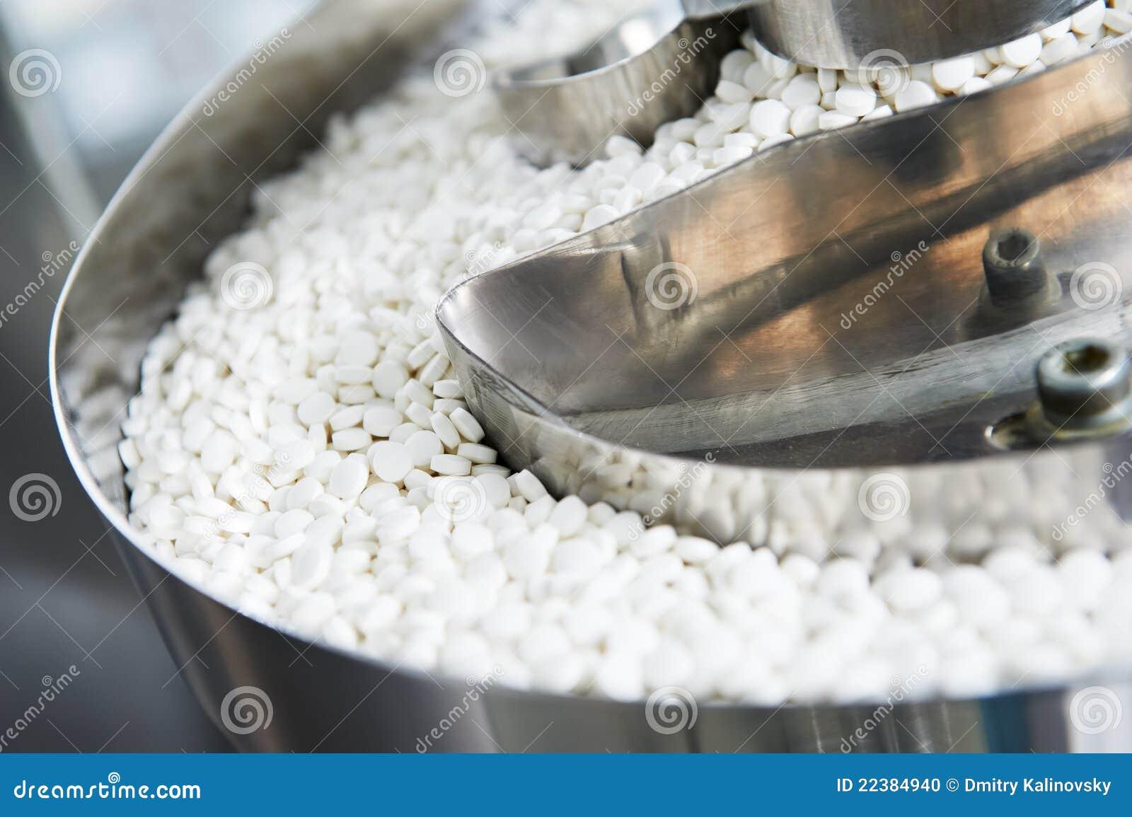 Produktion för pill för bakgrundsmedicinapotek