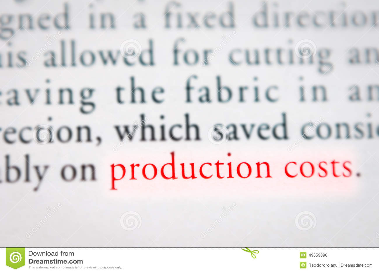 Produktionskostenkonzept