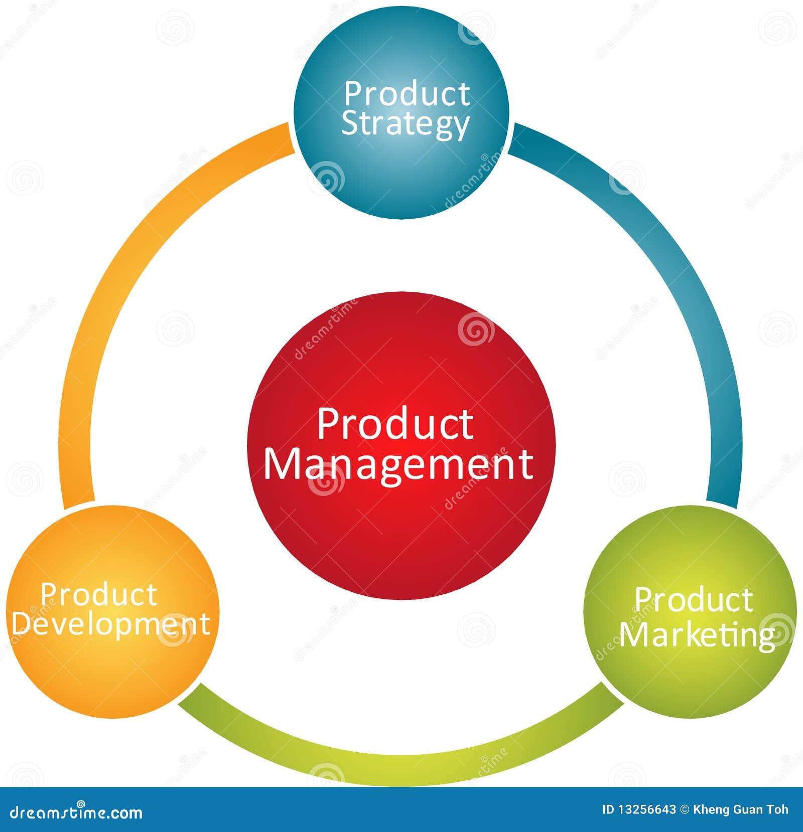 Produktmanagement-Geschäftsdiagramm Stock Abbildung - Illustration ...