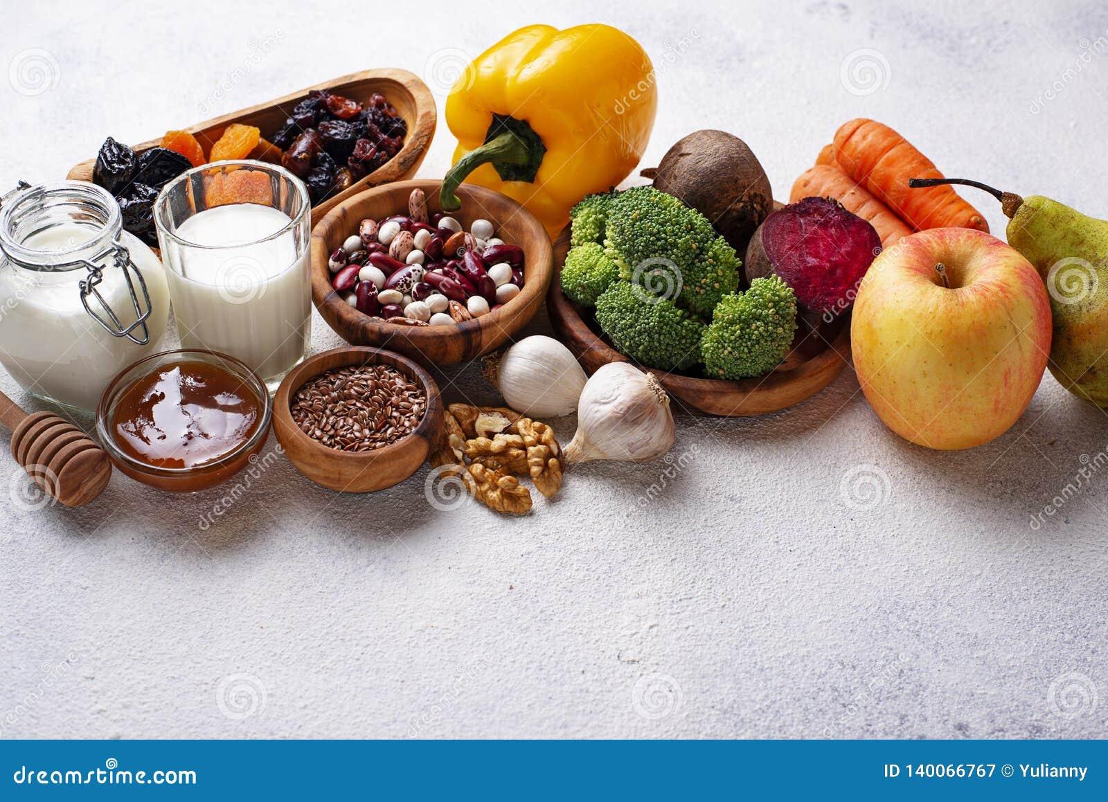 Produkty dla zdrowej kiszki Jedzenie dla żyłki