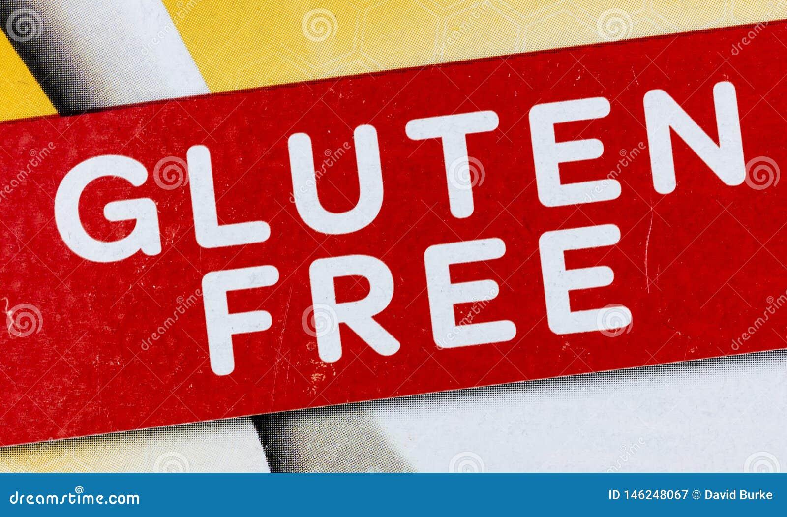 Produto sem glúten da etiqueta do alimento alergy