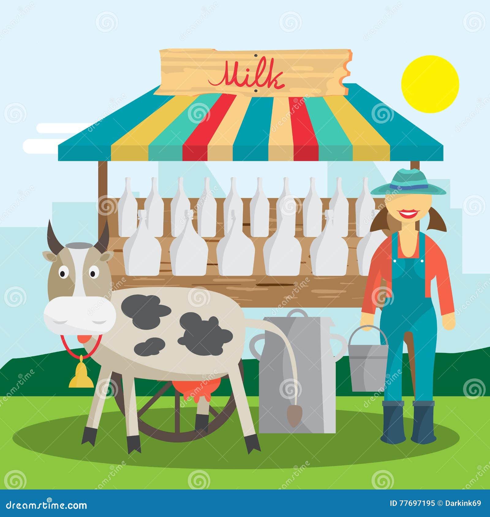 Supermercado · desenho · animado · longo · vetor · compras ...