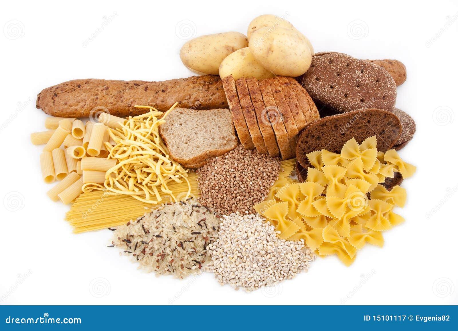 Produtos do hidrato de carbono com batata