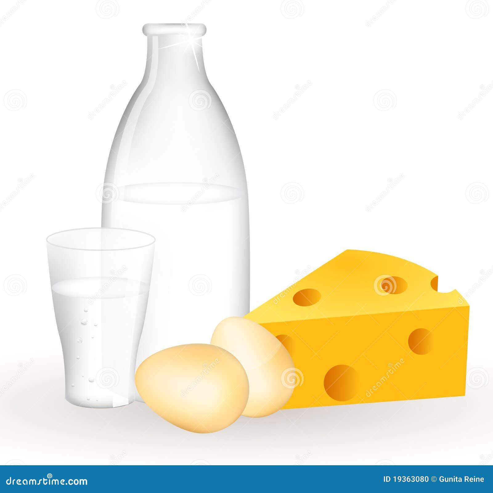 Produtos e ovos de leite