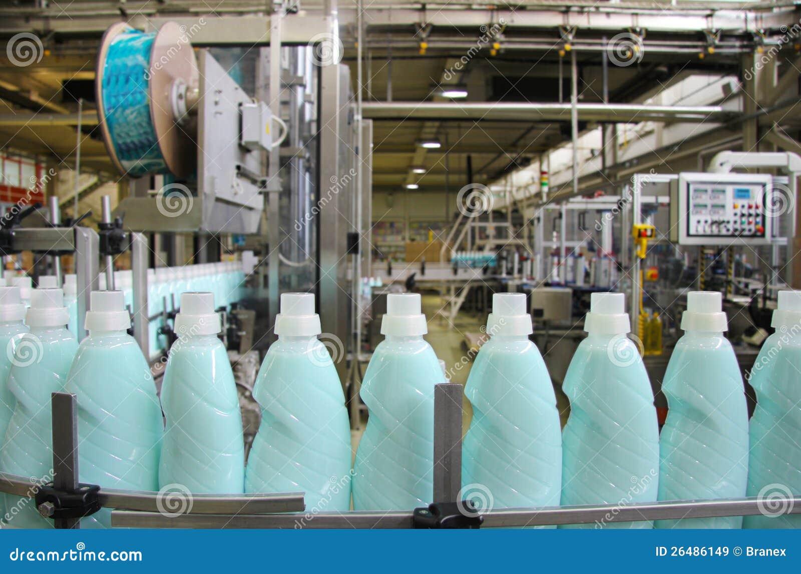 Produzione del detersivo liquido
